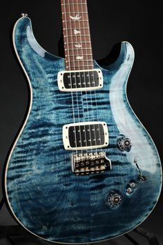 Blue Electric Guitar, Cool Electric Guitars, Prs Guitar, Guitar Art, Paul Reed Smith, G Strings, Whale, Bass