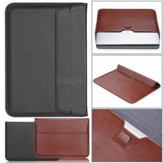 "Thin Leather Laptop Sleeve Bag Case For 11"" MacBook/Lenovo/Nextbook/Acer Laptop"