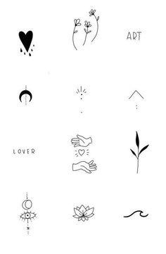 Tiny Tattoos For Girls, Small Hand Tattoos, Cute Tiny Tattoos, Dainty Tattoos, Cool Small Tattoos, Small Tattoo Designs, Little Tattoos, Pretty Tattoos, Mini Tattoos