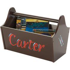 Chocolate Kiddy Caddy   Toy Storage Bin   Caddy