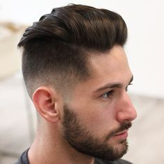 The undercut fade takes adds a blurry fade to that classic undercut silhouette. The undercut, aka disconnect hairstyle, shaves hair down to one length from a line extending back from the temple. Hair on top is