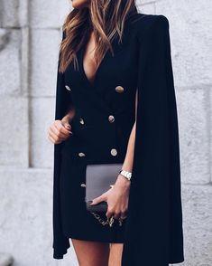 Trend Fashion, Suit Fashion, Look Fashion, Fashion Dresses, Blazer Fashion, Classy Outfits, Stylish Outfits, Simple Dresses, Dresses For Work