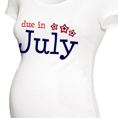 94b6c8f6e6835 personalized maternity shirt, patriotic, July, mom to be t-shirt Surprise  Pregnancy