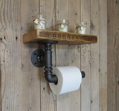 Your place to buy and sell all things handmade Western Furniture, Industrial Furniture, Industrial Pipe, Industrial Style, Rustic Toilet Paper Holders, Steampunk Bathroom, Rustic Toilets, Scaffold Boards, Recycled Furniture