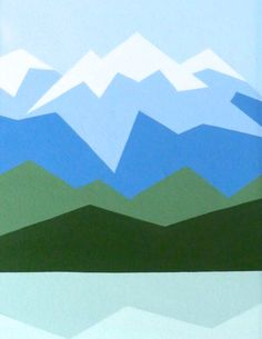 Black Friday 25% off Geometric mountain landscape. Original abstract geometric…