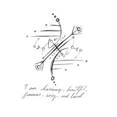 """""""I am charming, beautiful, feminine, sexy, and loved"""" sigil for Sigil requests are currently closed -Beinda Wiccan Symbols, Magic Symbols, Symbols And Meanings, Love Symbols, Wiccan Spell Book, Magick Book, Wiccan Spells, Rune Tattoo, Viking Runes"""