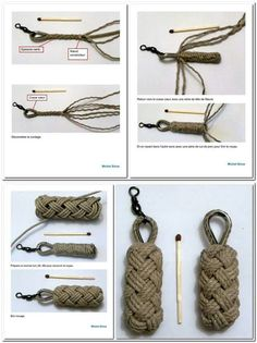 How to make a wheel paracord pendant paracord guild – Artofit Paracord Keychain, Paracord Bracelets, Knot Braid, Rope Knots, Parachute Cord, Rope Crafts, Paracord Projects, Macrame Jewelry, Weaving