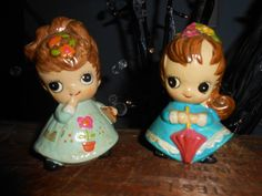 Little girl figurines from the 60's by MountainGypsyBazzar on Etsy, $21.00