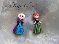Frozen Anna and Elsa clay charms