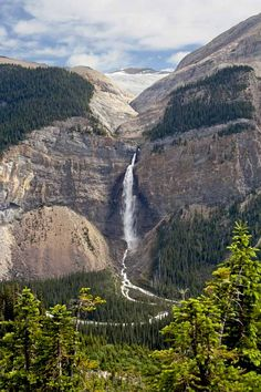 Takakkaw Falls, Yoho National Park, Canada  ♥ ♥ www.paintingyouwithwords.com