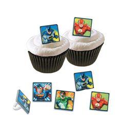 Cupcake Favor Rings - Justice League (24)