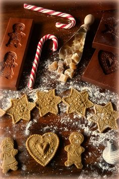 Gingerbread, Christmas and Cookie Molds by Cookie mold cookies, via Flickr