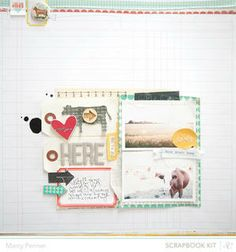 Here by marcypenner at Studio Calico using the Block Party scrapbook kit and add ons
