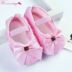 9a6eab5d6a9af Baby Shoes Girls Ribons Bowknot Infant Soft Sole Walking Shoes Baby First  Walker Toddler Shoes