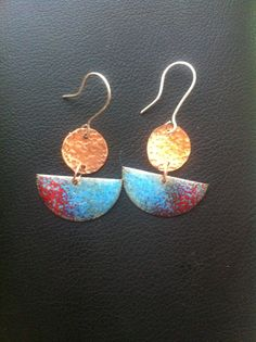 Drop Earrings, Jewelry, Enamels, Copper, Silver, Crocheting, Jewels, Accessories, Manualidades
