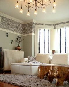 A Diffe Kind Of Wallpaper Border Using Cole Son As Cheryl Duran High Ceilings