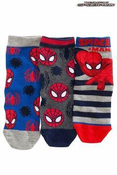 Buy Spider-Man™ Socks Three Pack (Older Boys) from the Next UK online shop ba7bec3cf0502