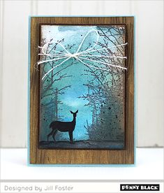 VIDEO TUTORIAL: Paint and stamp a winter scene using Penny Black's newest collection, Winter Wonderland