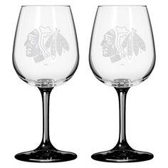 Boelter Brands NHL Chicago Blackhawks Wine Glass - 12 Oz.