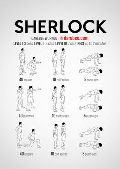 Hahaha the sherlock workout, now you can not be skinny and solve cases lol