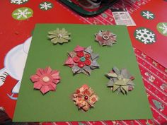 Used all my scraps from the Christmas cards that I made and made the embellishments for my scrapbook pages.