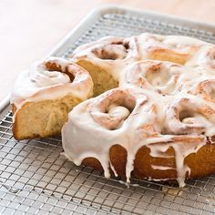 Making cinnamon buns is a project. Most shortcut recipes use quick biscuit dough, but the results just aren't the same. We wanted to find a way to make yeast hurry.