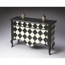 Chequered side table