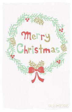 Merry Christmas Wreath - Card Printable