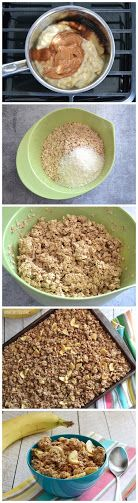 No Sugar Added Banana Nut Granola Recipe