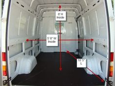 Dimensions Sprinter van== These are specs, not Sprinter Van, Mercedes Sprinter, Van Conversion Interior, Camper Van Conversion Diy, Sprinter Conversion, Diy Caravan, Bus Life, Campervan Interior, Cool Vans