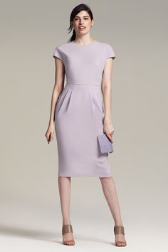Introducing the Masha dress! Corporate and cool, this dress is equal parts elegance & fashion-forward. Dressy Dresses, Dress Outfits, Fashion Dresses, Dresses For Work, Office Dresses, Corporate Fashion, Lilac Dress, Vestidos Vintage, Business Dresses