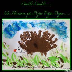 Plakboek: UN HERISSON Bricolage enfant