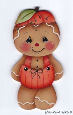 HP GINGERBREAD Pumpkin Suit FRIDGE MAGNET