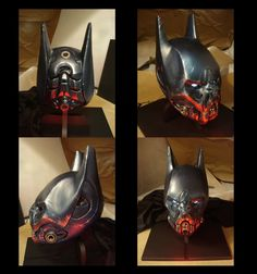 Bat inspired Batman helmet by Jason Kang. Amazing sculpture and design. Someone at DC please add this the the New DC 52