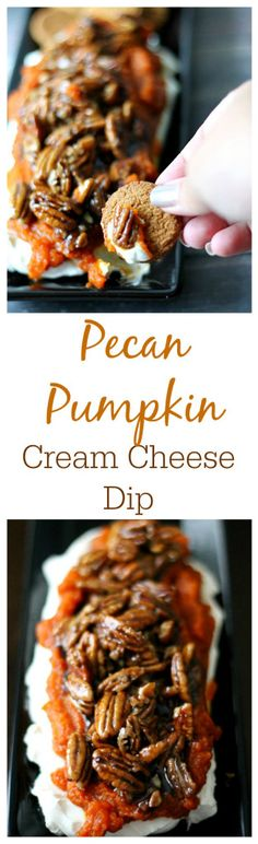 Looking for the perfect fall treat? My Pumpkin Pecan Cream Cheese Dip is amazing!! I keep my Cantry stocked with pumpkin so I can whip up deliciousness like this any time I want! #ad