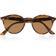 Ray-Ban Round-frame acetate sunglasses (2.480.685 IDR) ❤ liked on Polyvore featuring accessories, eyewear, sunglasses, glasses, occhiali, tortoiseshell, round frame glasses, round tortoise sunglasses, uv protection sunglasses and tortoise shell sunglasses