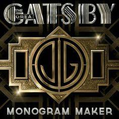 Gatsby Monogram Maker
