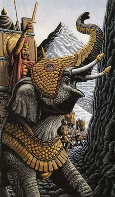Adventures - Drawing/Illustration by Douglas Smith, Peak Islands, ME, USA Ancient Rome, Ancient History, Art History, Carthage, Tattoo Guerreiro, Hannibal Barca, Douglas Smith, War Elephant, Punic Wars