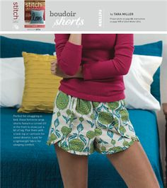 Boudoir Shorts : Free Sewing Pattern - Sew Daily