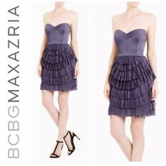 BCBGMAXAZRIA DRESS Stunning strapless dress in LIKE NEW condition. It's so flattering on! Stand out from the rest in this beauty! Only worn once and got so many compliments  BCBGMaxAzria Dresses