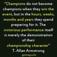 So true....winning isn't everything