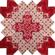 Lucy Boston Block #65! A vision in Red from Sue Daley's new line, Beaujolais, from Penny Rose Fabrics. Now, doesn't that just make you happy? Order the kit from Pieceful Gathering Quilt Shop while they last.