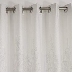 vivosun elegant 2 pieces printed window curtain grommet drapes white u0026 grey 1