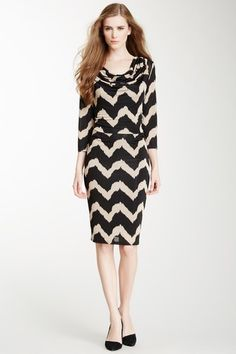 Evolution by Cyrus Cowl Neck Printed Dress on HauteLook
