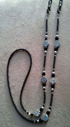 Items similar to Zebra Animal Print Eyeglass Chain Handmade Beaded on Etsy Bohemian Bracelets, Handmade Bracelets, Beaded Jewelry Designs, Diy Jewelry, Beaded Shoes, Beaded Lanyards, Eyeglass Holder, Eyeglasses, Beaded Necklace