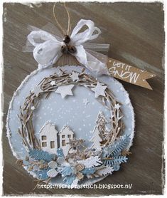Read more about Handmade Christmas Decorations Handmade Christmas Decorations, Christmas Gift Tags, Christmas Holidays, Christmas Wreaths, Christmas Bulbs, Diy Adornos, Handmade Tags, Christmas Makes, Holiday Crafts
