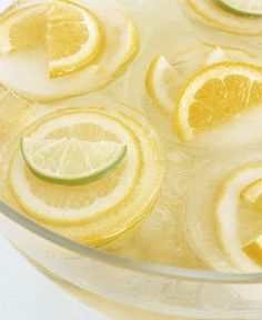 Lemon Cubes - Water is best with a splash of lemon. Try these lemon cubes next time you serve water. Visit Martha Stewart for the complete recipe.