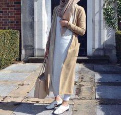 #محجبات تشكيلة من الملابس الأنيقة بلون الكاميل للمحجبات
