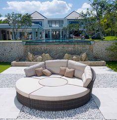Sofas de Diseño para exterior BISHAN. Decoracion Beltran, tu tienda online en mobiliario de terraza y jardin.