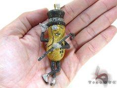 Custom Made Mr.Peanut Diamond Pendant 21163 8.23 Ct